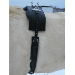 Harness saddle W-profile
